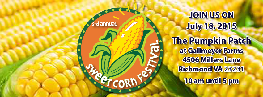 Gallmeyer Farms 2015 Sweet Corn Festival Facebook and Website graphic