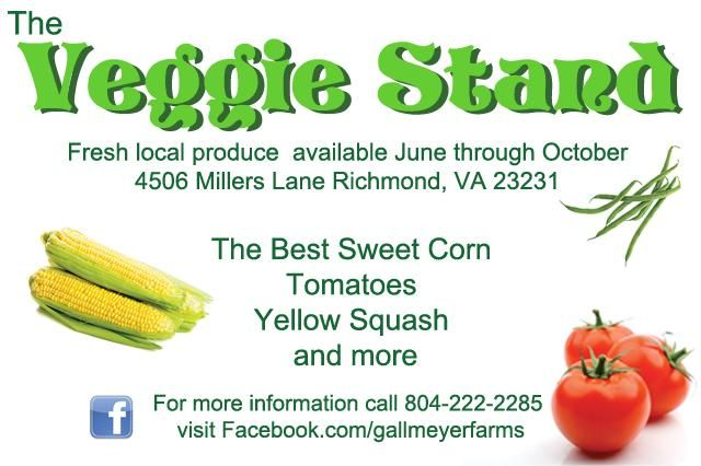 Gallmeyer Farms The Veggie Stand Website Graphic